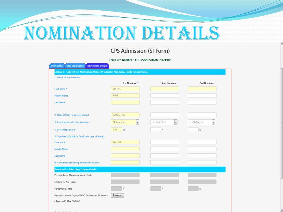 Nomination Details