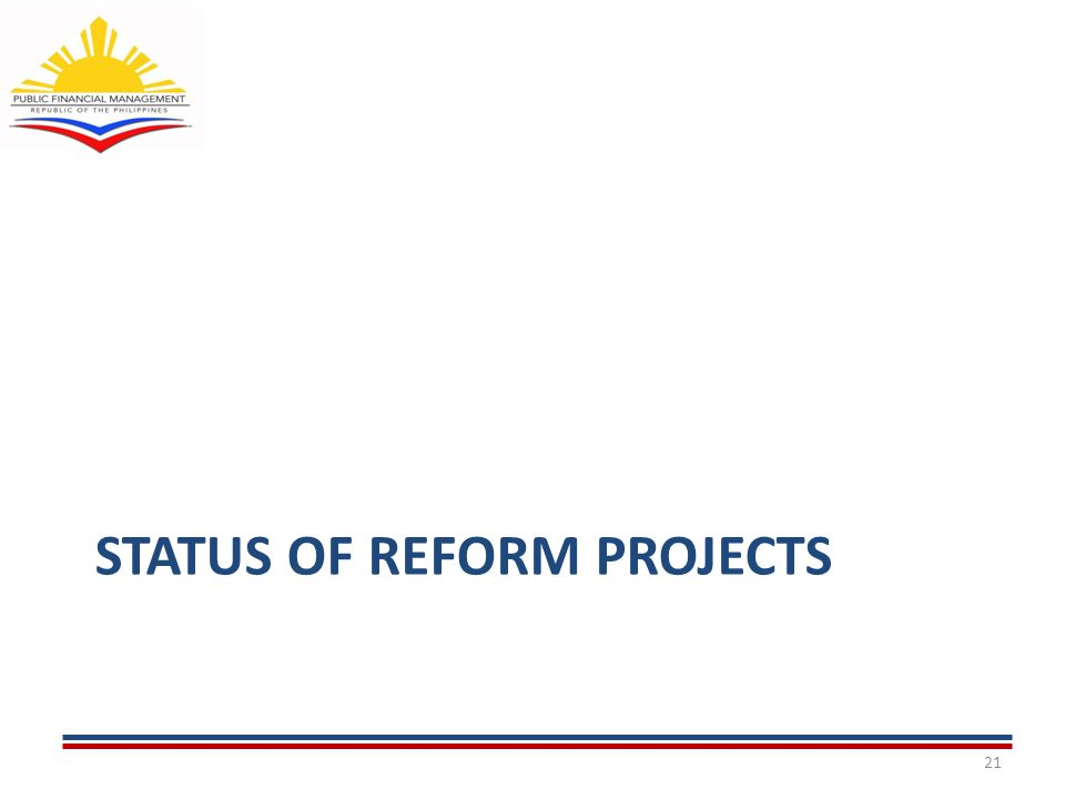 STATUS OF REFORM PROJECTS 21