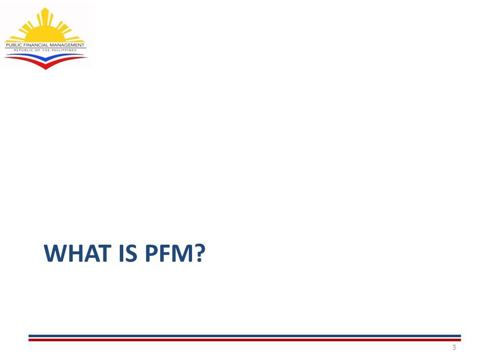 4 What is PFM.