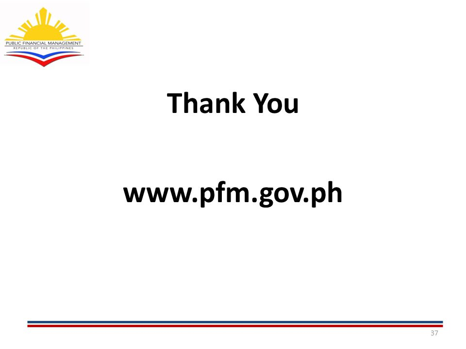 37 Thank You www.pfm.gov.ph
