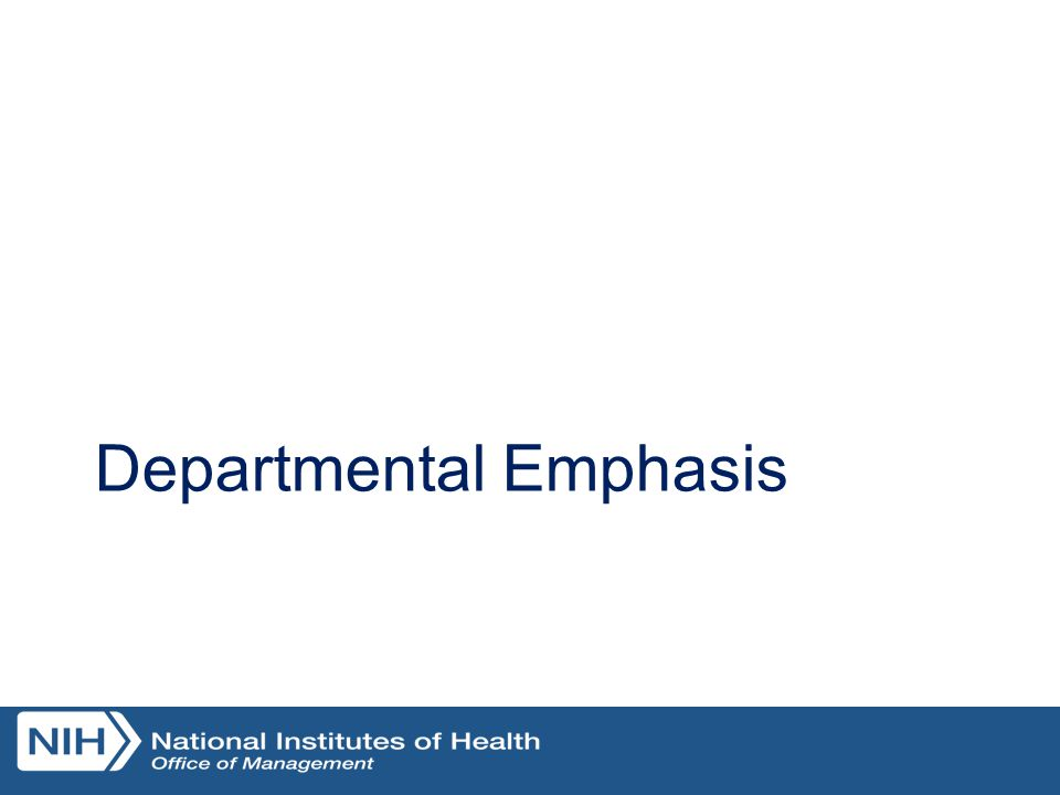 Departmental Emphasis