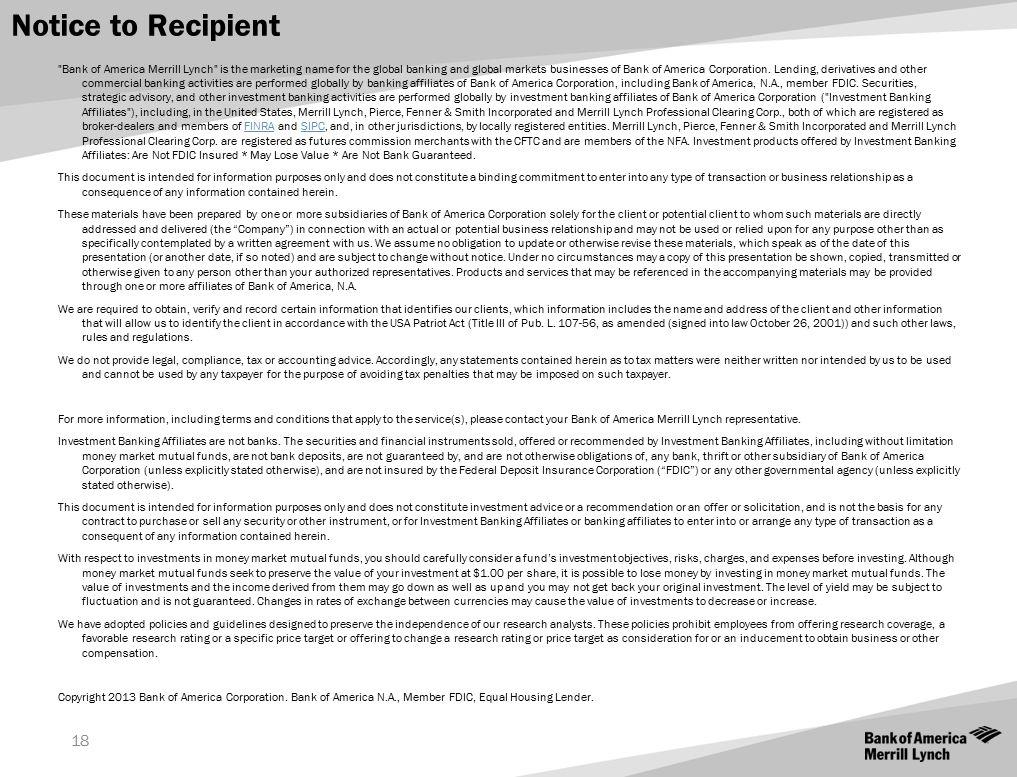18 Notice to Recipient
