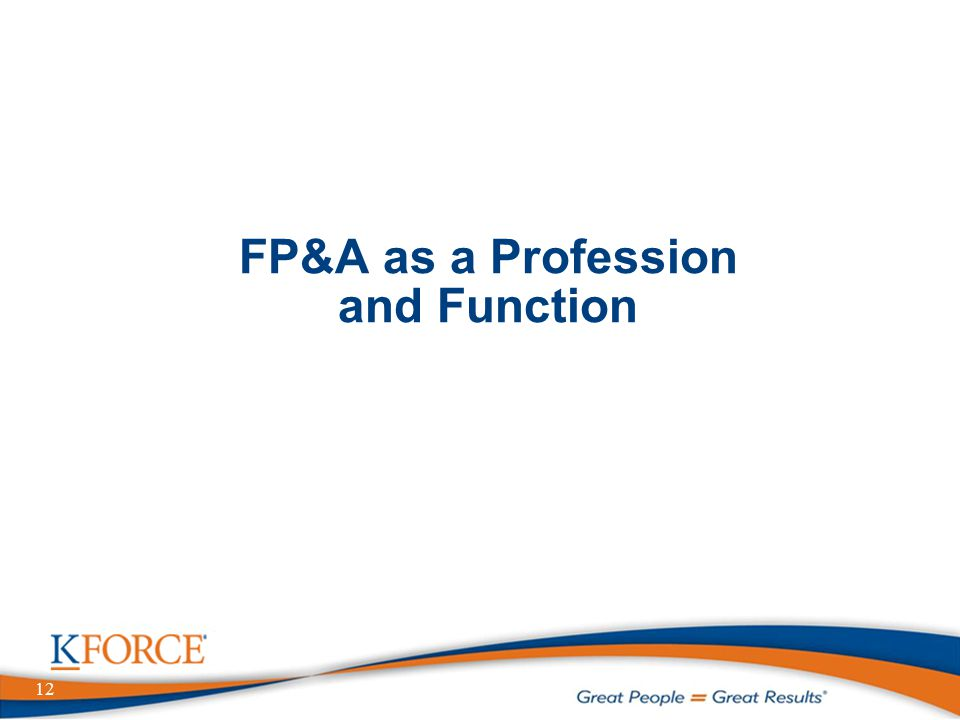 12 FP&A as a Profession and Function