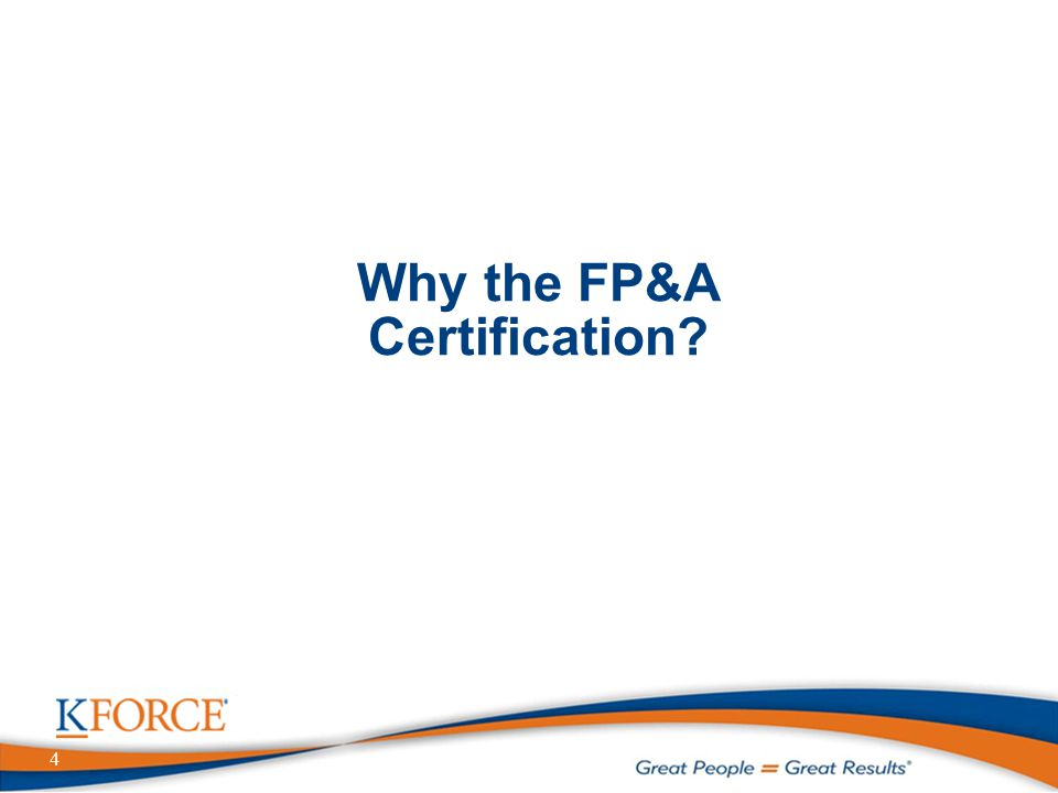 4 Why the FP&A Certification