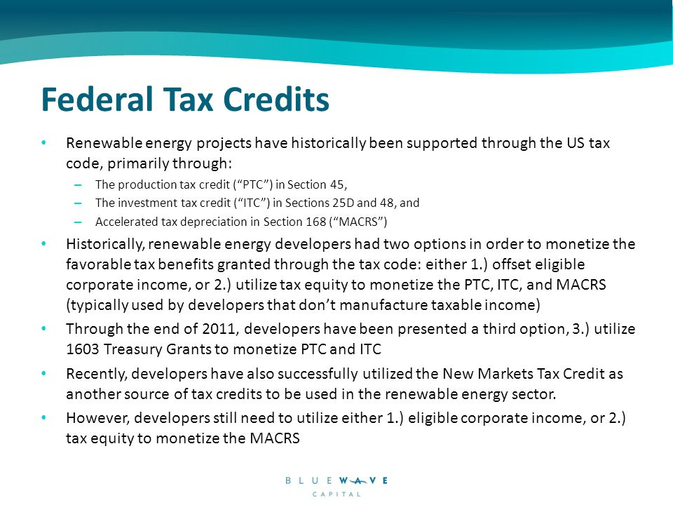 1603 Grant and Investment in Renewables Prior to PTC and ITC extensions in 2007‐2008, annual wind and solar installations fluctuated considerably, reflecting inconsistent policy The introduction of the 1603 Treasury Grant in 2009 had an immediate impact on the U.S.