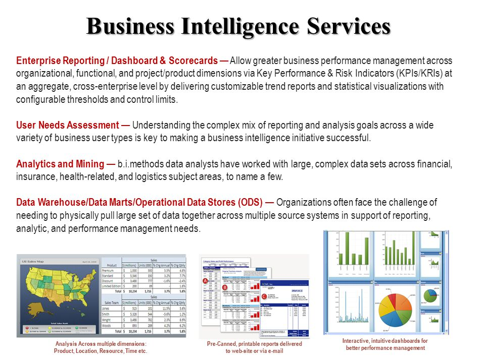 Enterprise Reporting / Dashboard & Scorecards — Allow greater business performance management across organizational, functional, and project/product dimensions via Key Performance & Risk Indicators (KPIs/KRIs) at an aggregate, cross-enterprise level by delivering customizable trend reports and statistical visualizations with configurable thresholds and control limits.
