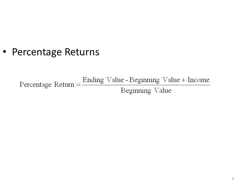 4 Percentage Returns