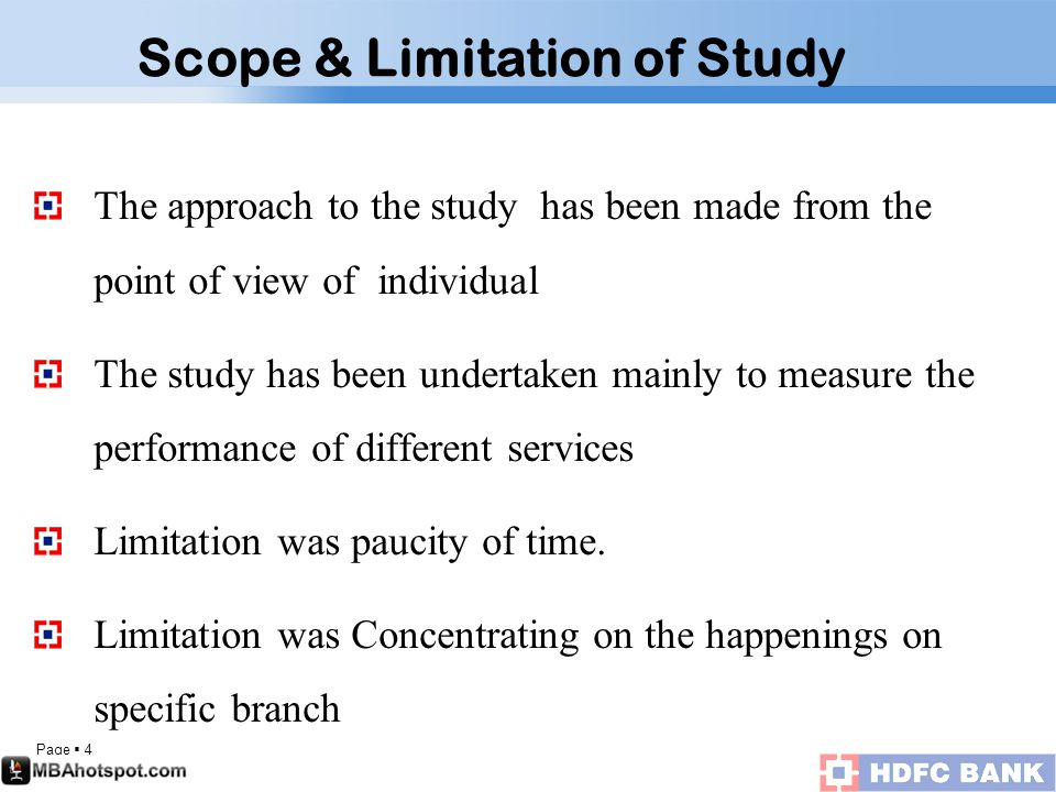 Page  4 The approach to the study has been made from the point of view of individual The study has been undertaken mainly to measure the performance of different services Limitation was paucity of time.