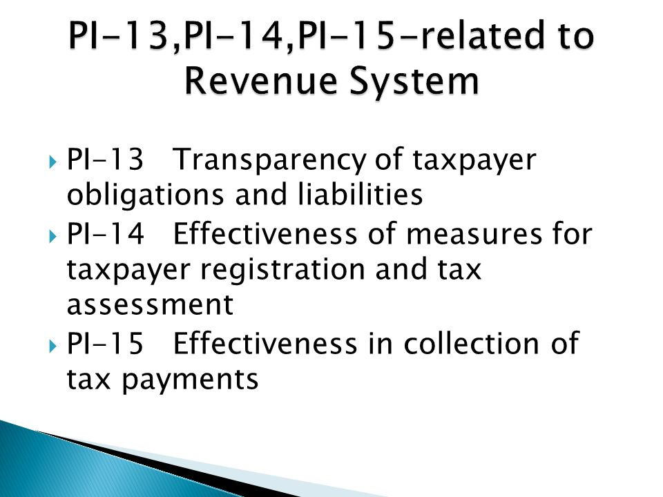  To ensure budget is implemented in an orderly and predictable manner and there are arrangements for the exercise of control and stewardship  Revenues are the main sources of expenditure financing  Effectiveness of Budget Formulation and Execution depends on revenue collection