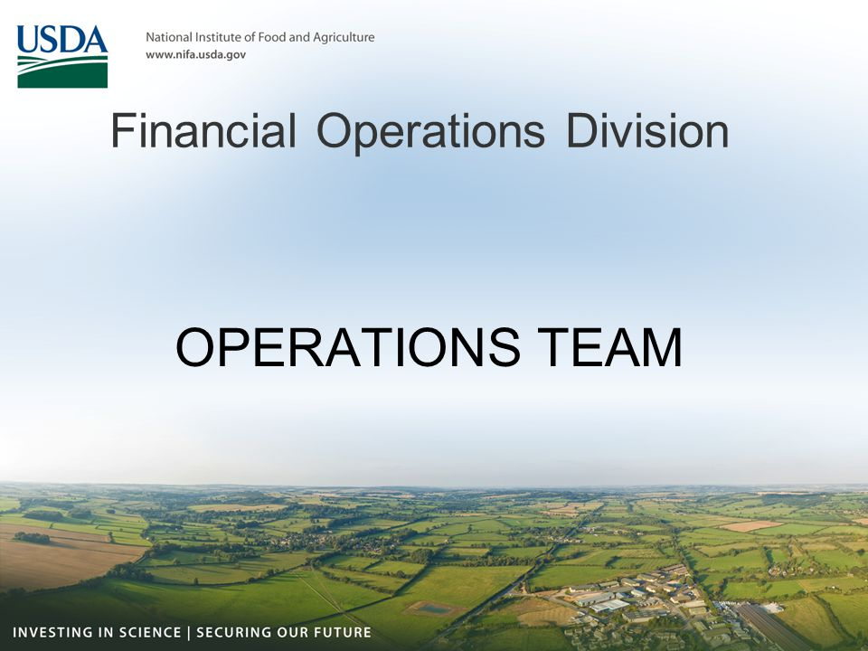 Financial Operations Division OPERATIONS TEAM