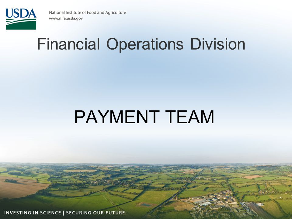 Financial Operations Division PAYMENT TEAM