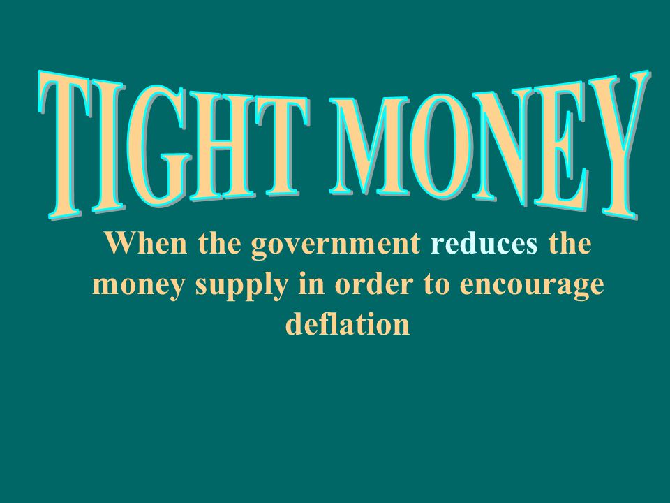 The government's plan for controlling the money supply