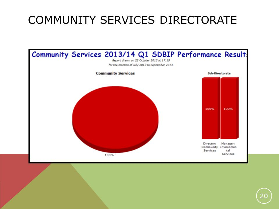 COMMUNITY SERVICES DIRECTORATE 20