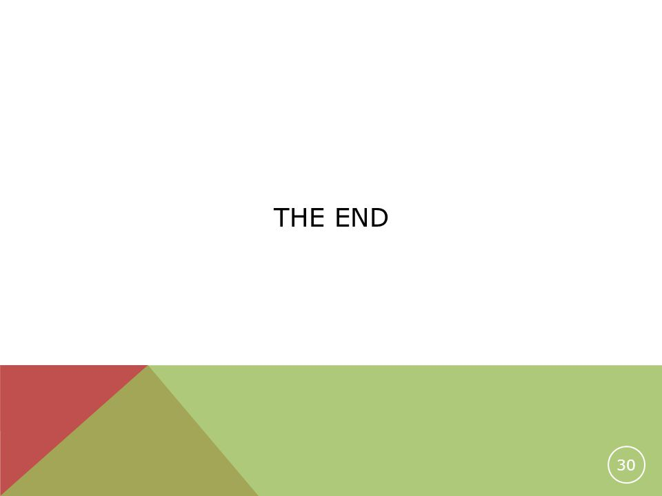 THE END 30