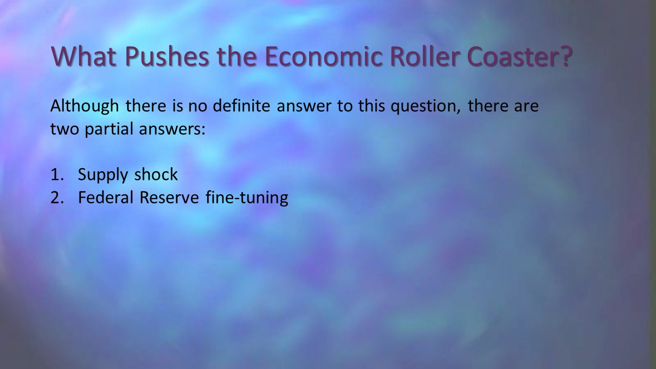 What Pushes the Economic Roller Coaster.