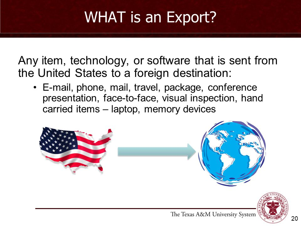 WHAT is an Export.
