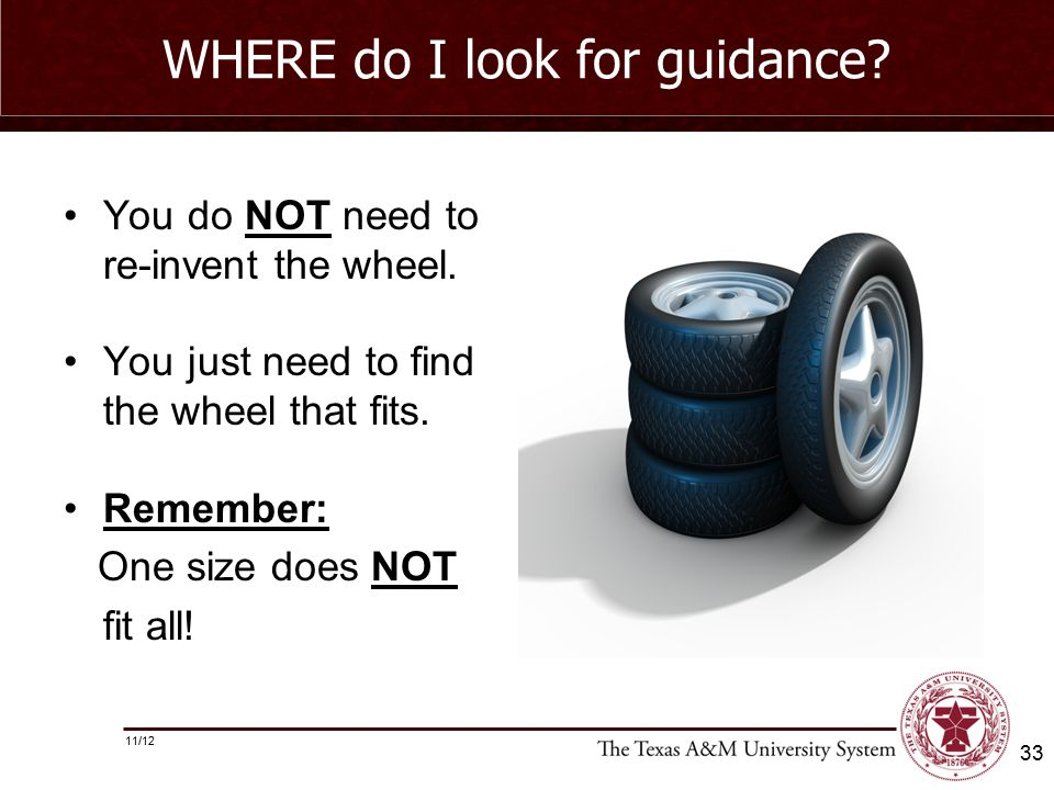 WHERE do I look for guidance. You do NOT need to re-invent the wheel.