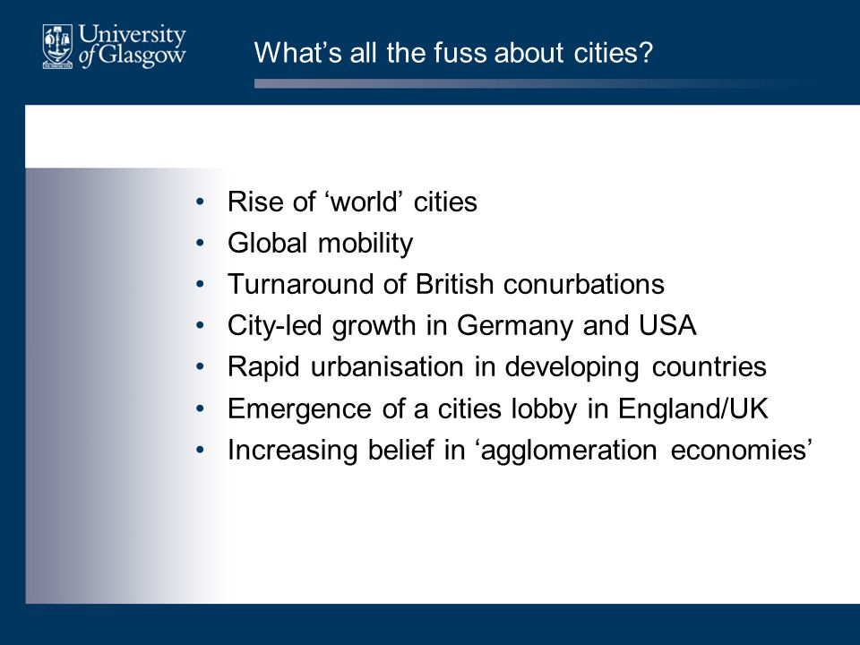 What's all the fuss about cities.