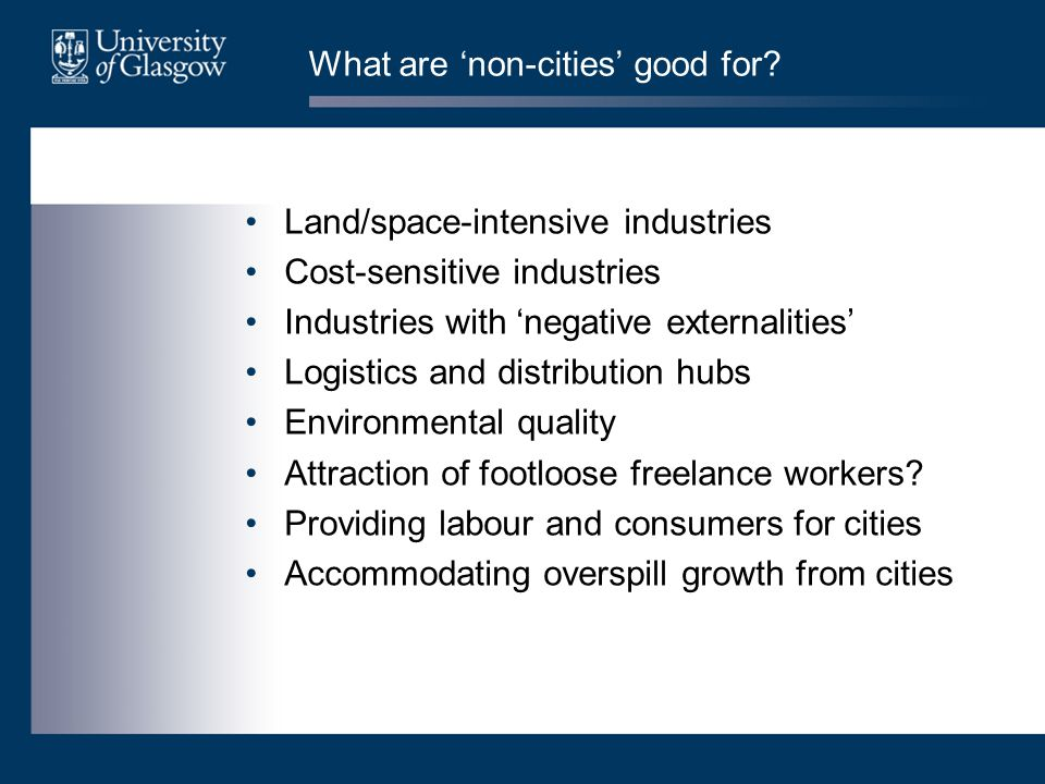 What are 'non-cities' good for.