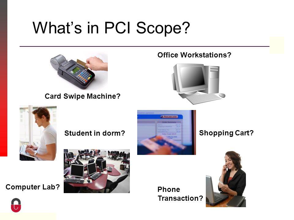 Property of CampusGuard What's in PCI Scope. Card Swipe Machine.