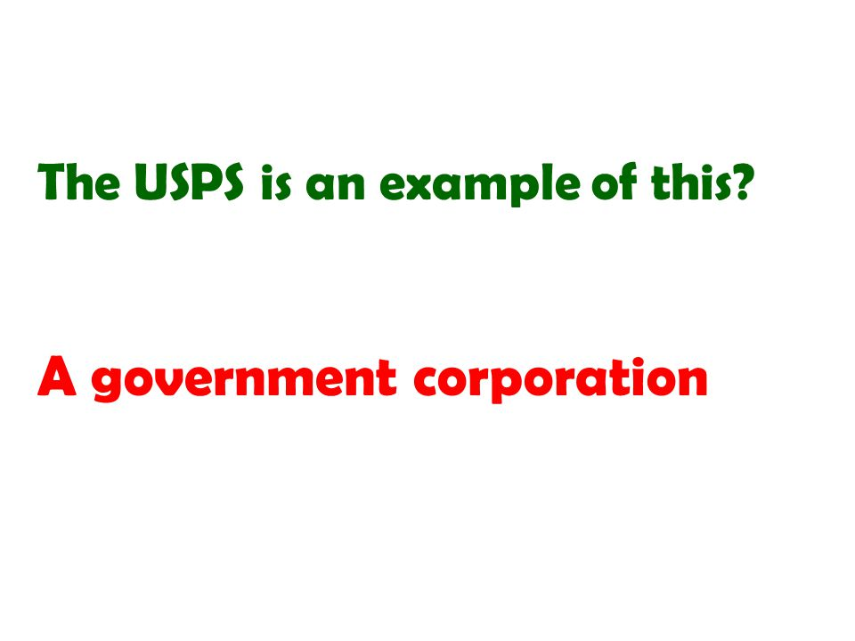 A government corporation