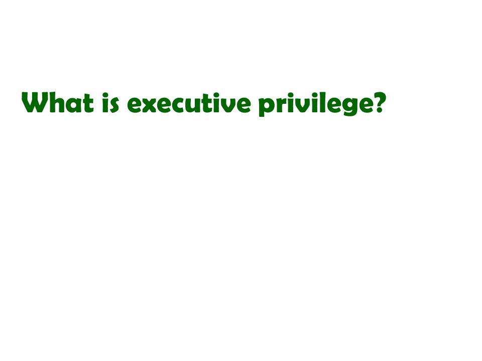What is executive privilege