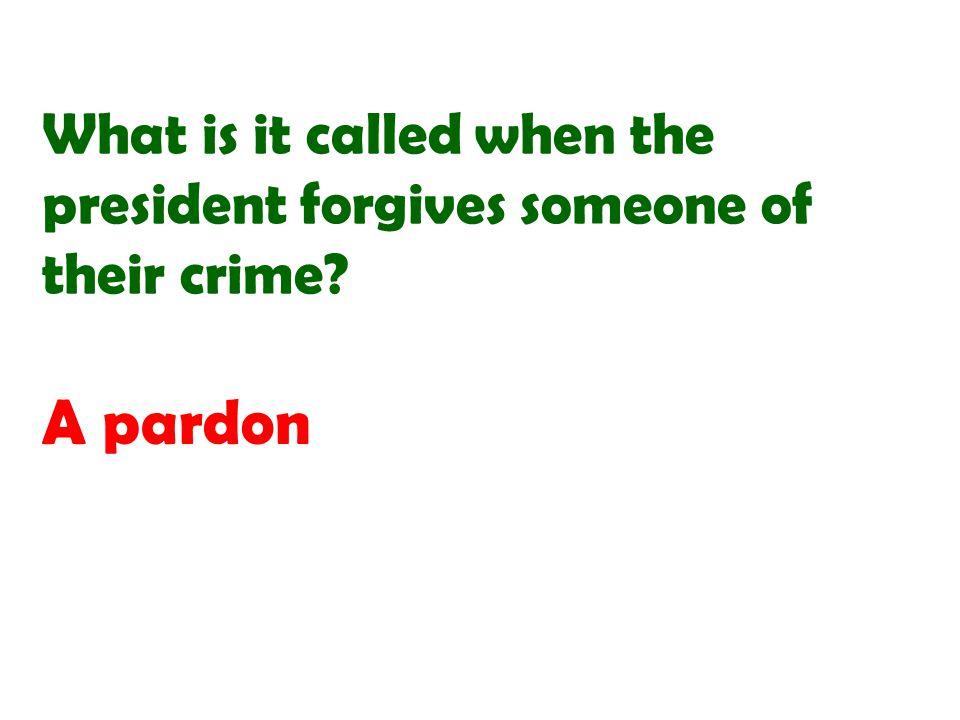 A pardon