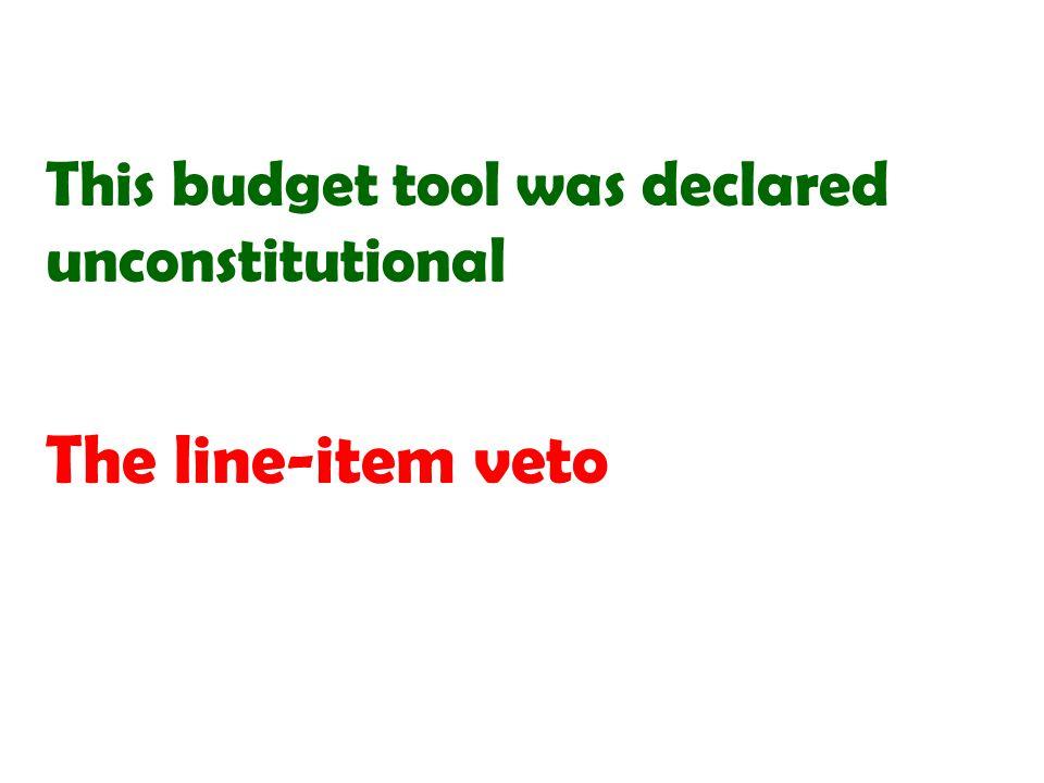 The line-item veto