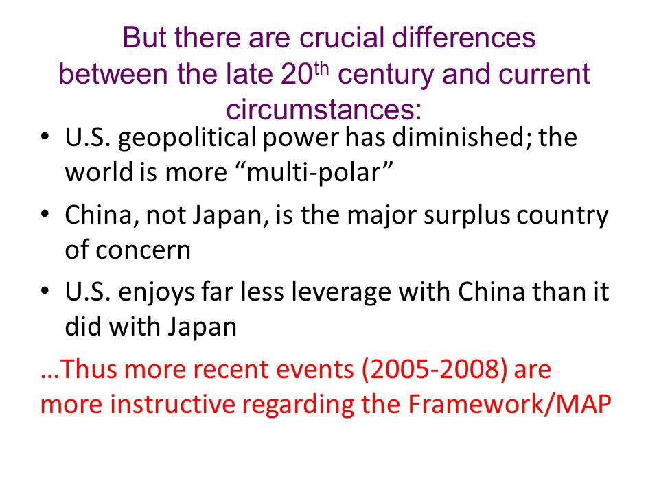 2005-2006: Imbalances are large, arousing concern about the global macroeconomy.