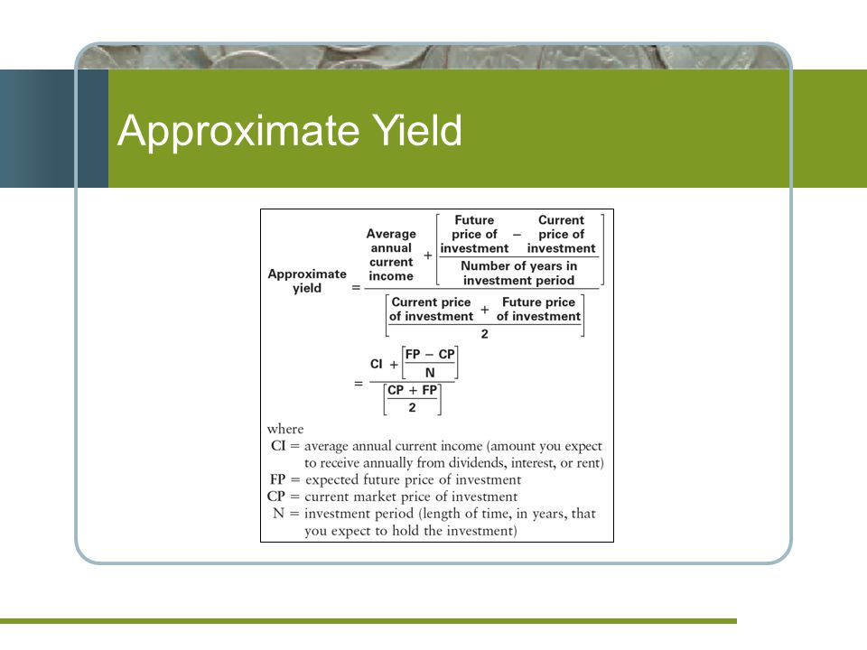 Approximate Yield