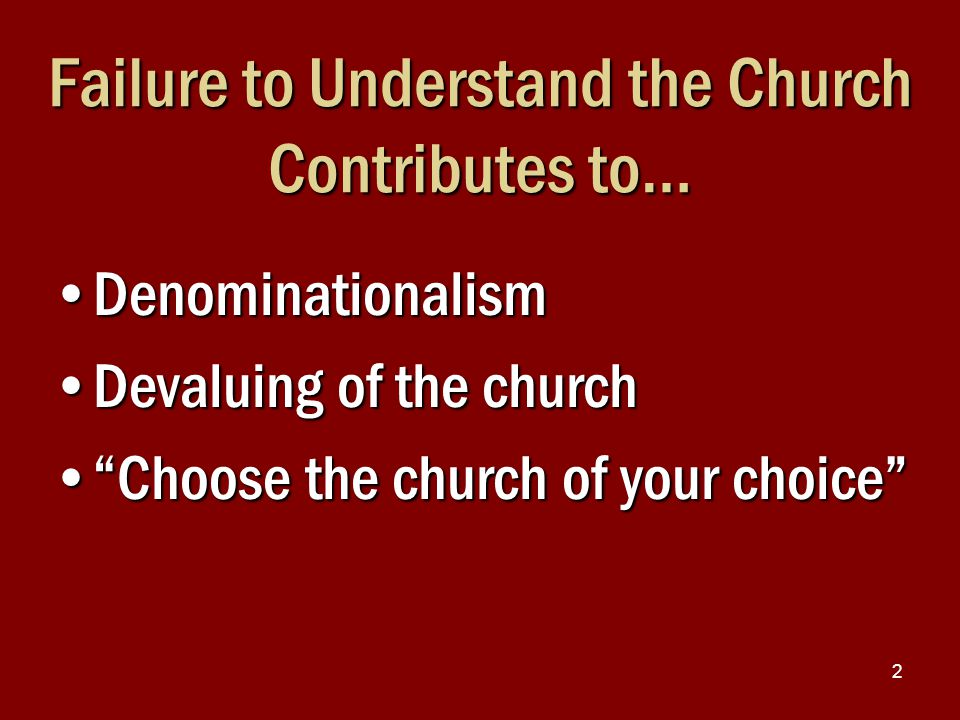 3 Many in Churches of Christ Do Not Understand the Church Liberal view: Whatever the individual can do, the local church can do Liberal view: Whatever the individual can do, the local church can do –Loosing where the Lord has not loosed Factious view: Whatever the local church cannot do, the individual Christian cannot do Factious view: Whatever the local church cannot do, the individual Christian cannot do –Binding where Lord has not bound