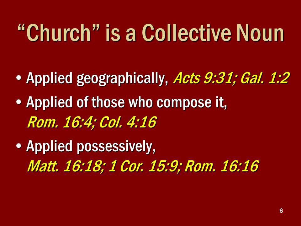 7 CHRIST In heaven { { { { Local Church Acts 11:22 Local Church Rev.