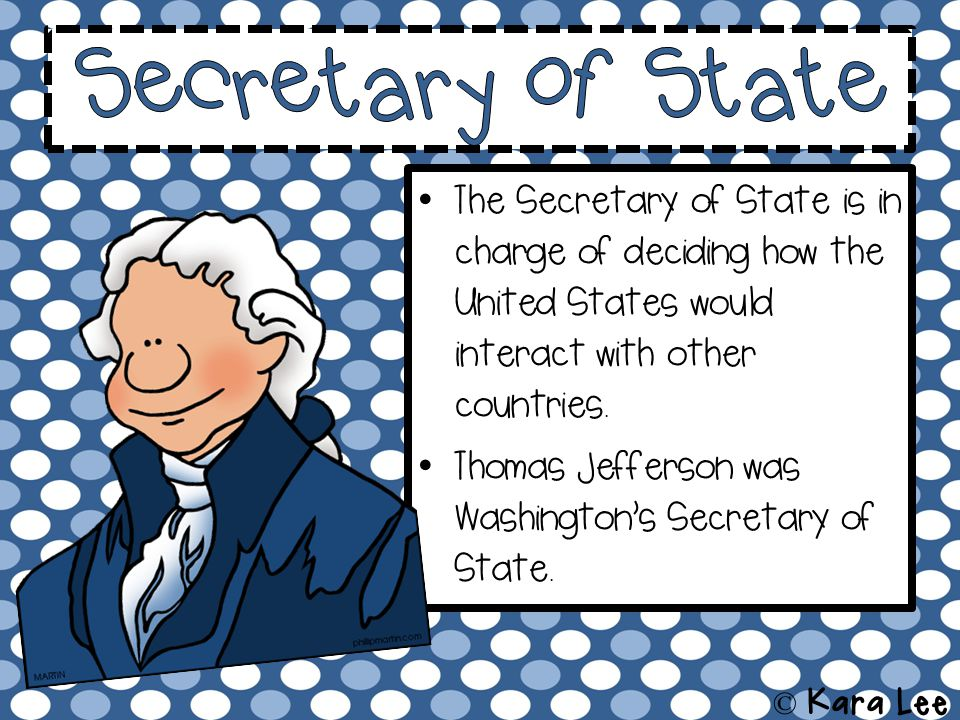 The Secretary of State is in charge of deciding how the United States would interact with other countries.