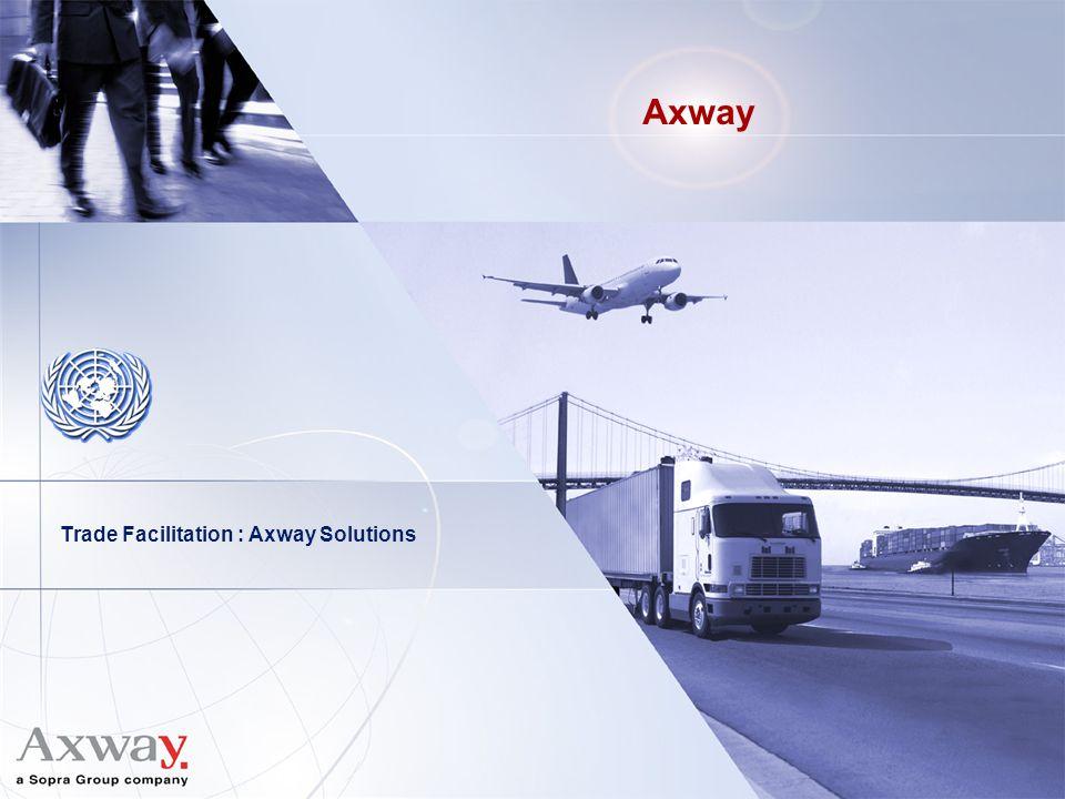 Axway Trade Facilitation : Axway Solutions