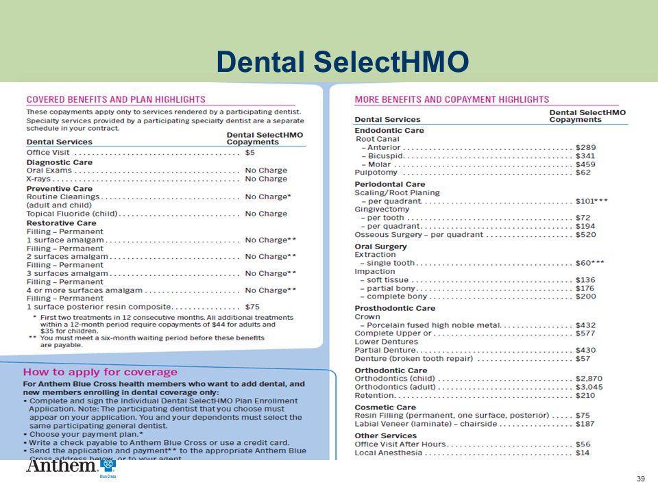 39 Dental SelectHMO