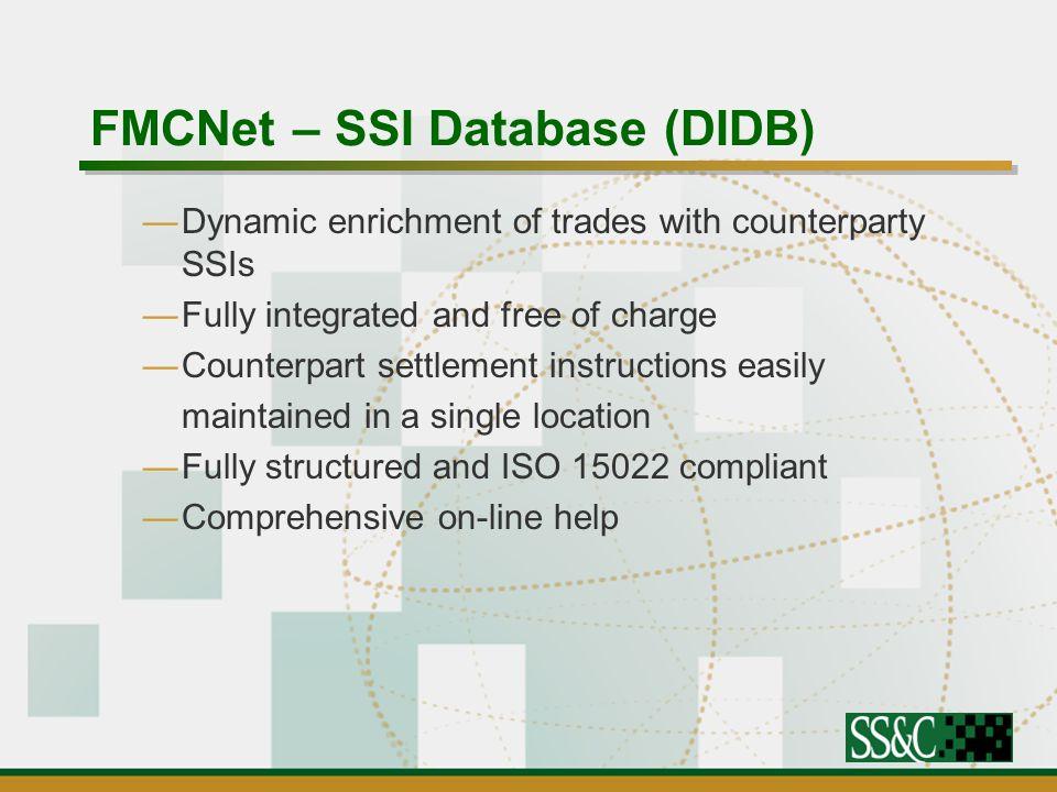 – SSI Database (DIDB)