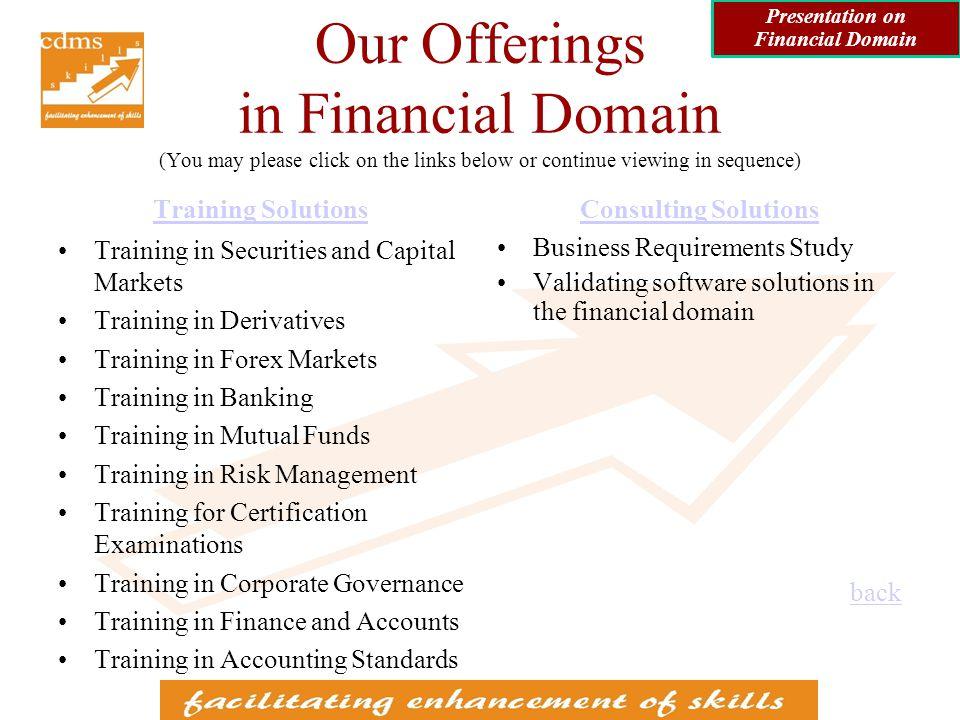 Training Solutions Presentation on Financial Domain