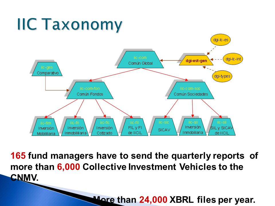 IIC Taxonomy 165 fund managers have to send the quarterly reports of more than 6,000 Collective Investment Vehicles to the CNMV.