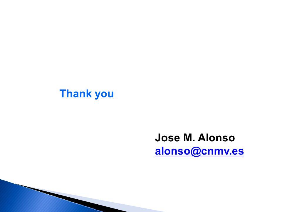 Thank you Jose M. Alonso alonso@cnmv.es