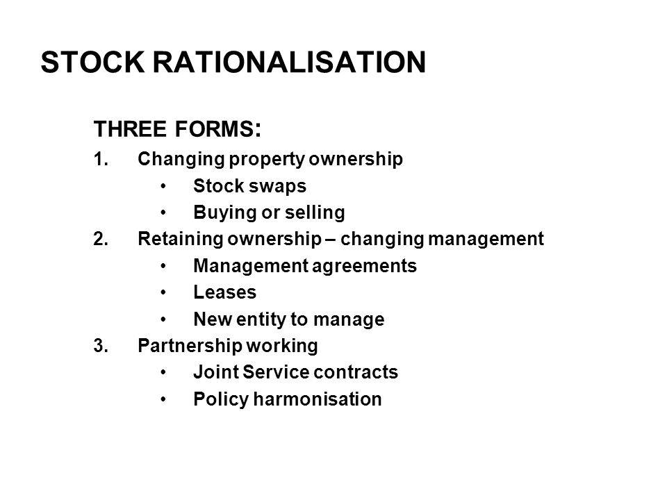 Sale by non-charitable RSL to another RSL Sale in pursuance of housing objects so can sell at below market value Board must be satisfied sale (and price) in the best interests of RSL Housing Corporation grants section 9 consent if satisfied tenants properly consulted