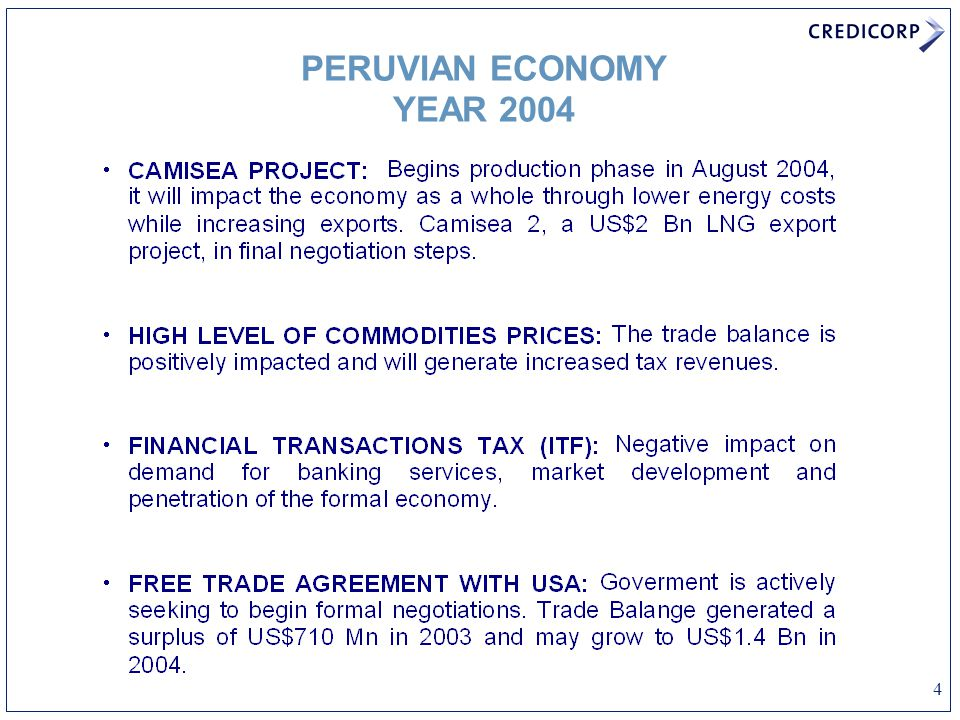 4 PERUVIAN ECONOMY YEAR 2004