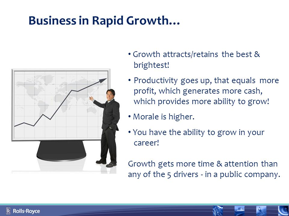 Business in Rapid Growth… Growth attracts/retains the best & brightest.