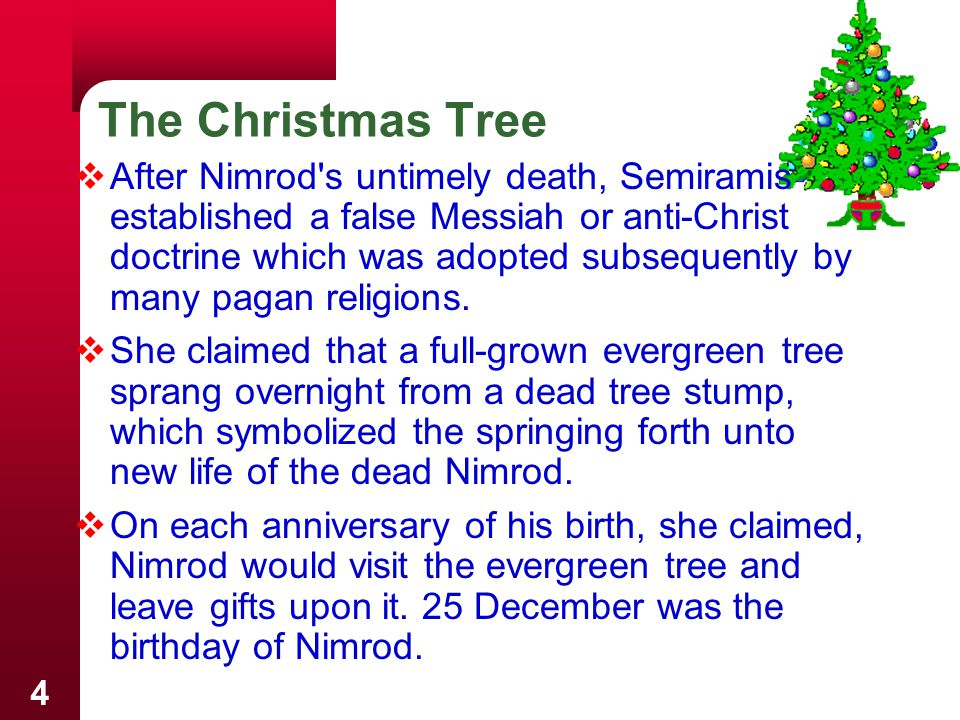 15  We now celebrate Christmas every year, with a little bit of pagan superstition, a Norse Yule log, Druid candles, a drop of wine from Saturnalia, and a feast from the winter solstice.  Conclusion –  God is not honored by traditions of men.