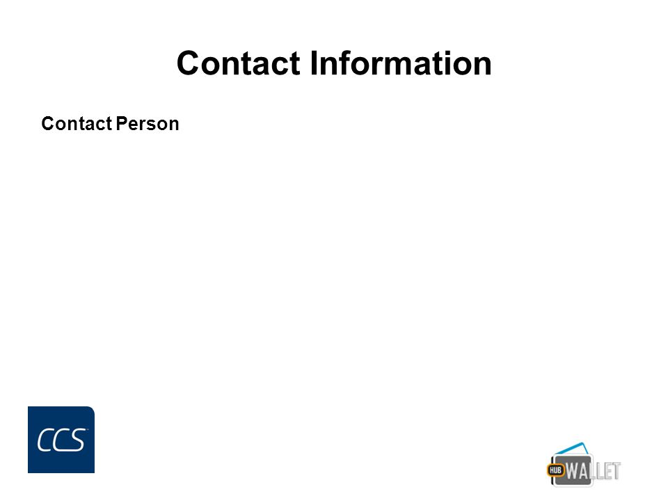 Contact Information Contact Person
