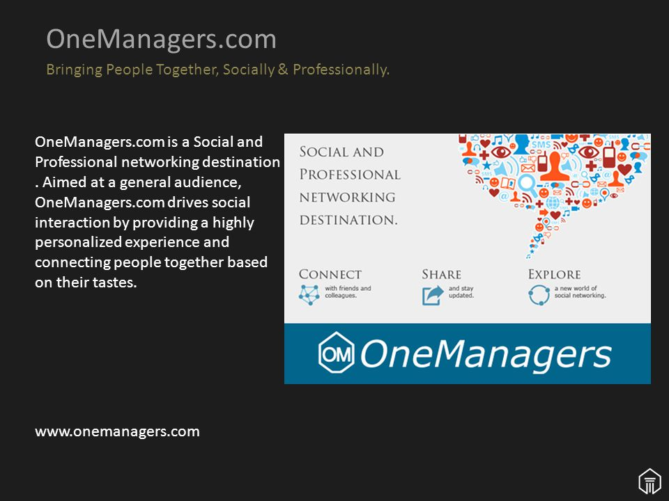 v OneManagers.com Bringing People Together, Socially & Professionally.
