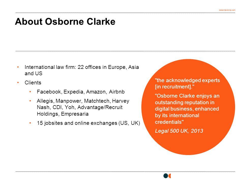 osborneclarke.com 1 About Osborne Clarke