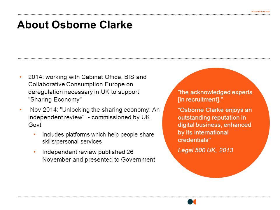 osborneclarke.com 3 About Osborne Clarke