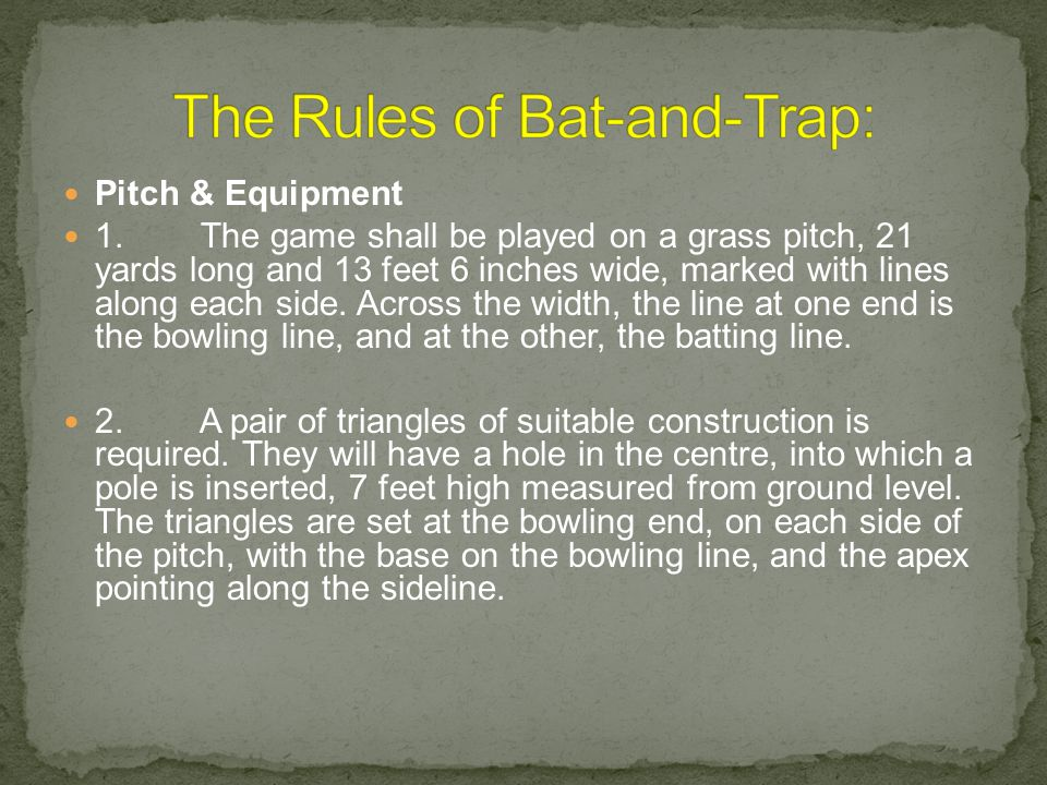 Pitch & Equipment 1.