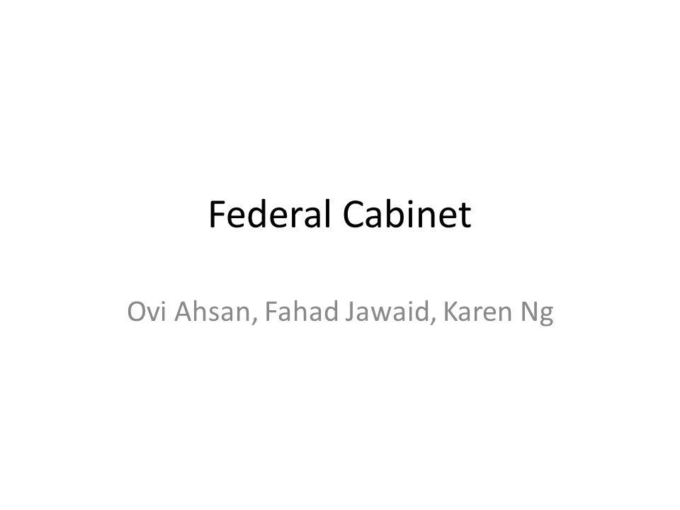 Federal Cabinet Ovi Ahsan, Fahad Jawaid, Karen Ng