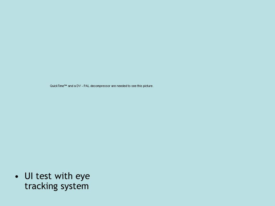 UI test with eye tracking system